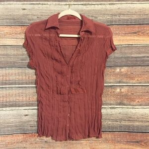 Anthropologie tapemeasure pink lace top